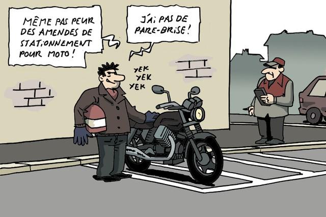 Pour ou contre le stationnement payant pour les motos et scooters?
