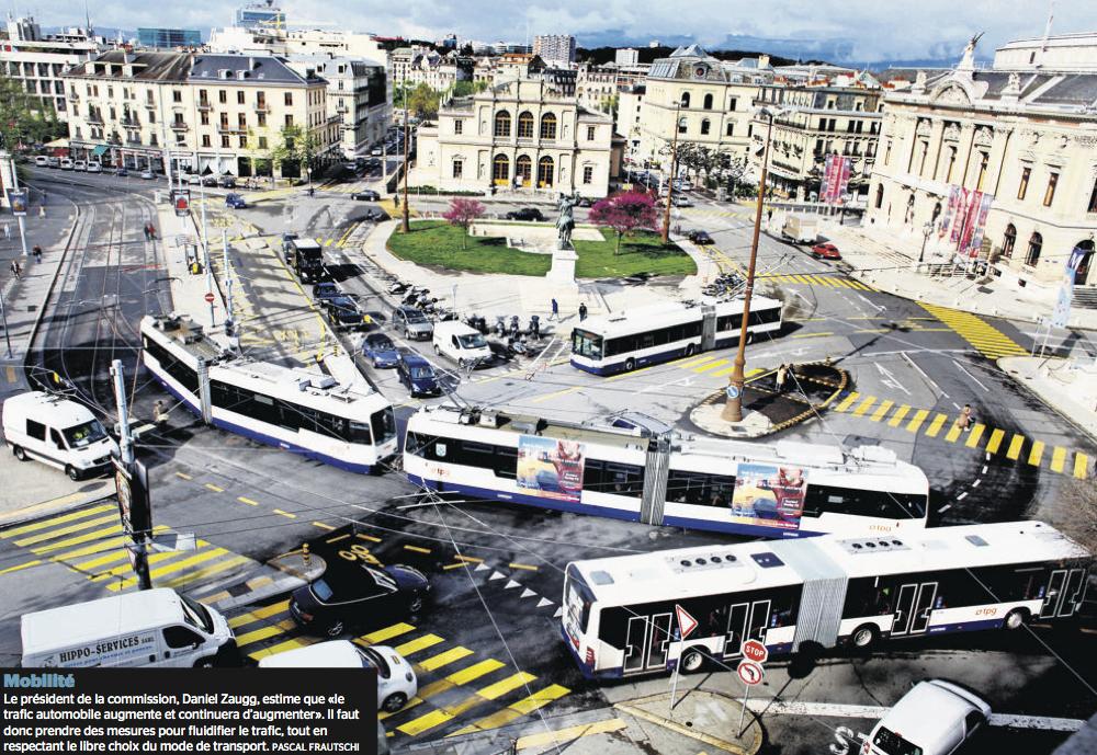 Genève chemine vers la paix des transports